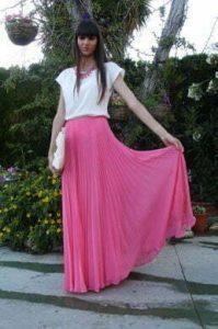 falda de vuelo larga
