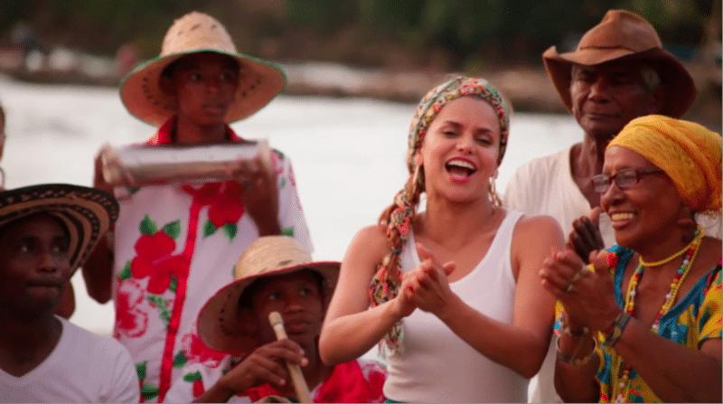 Adriana Lucía graba nuevo video musical en Montería