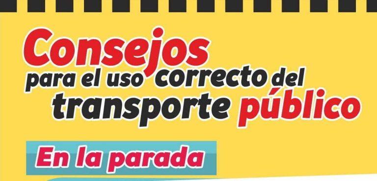 Consejos para el uso correcto del transporte público