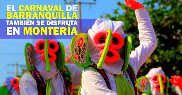 El carnaval de Barranquilla también se disfruta en Montería