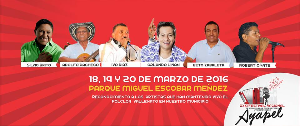 Festival Nacional de Acordeoneros, Compositores y Verseadores en Ayapel