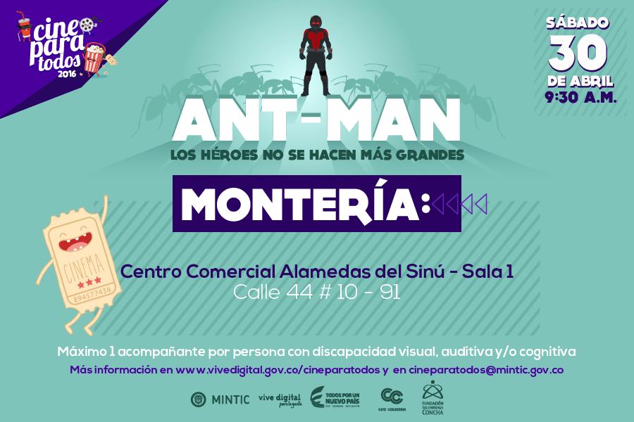Cine para todos trae gratis: Ant-Man