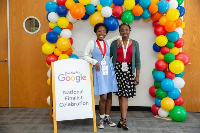 Doodle es la imagen que aparece en ocasiones especiales en la página de Google, Colombiana ganó un concurso de Google, La Guía de Montería