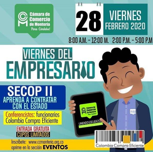 """""""Aprende a contratar con el estado"""", conferencia gratuita en Montería"""