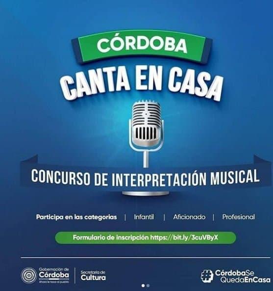 """Participa en el concurso """"Córdoba Canta En Casa"""""""