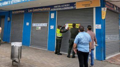 Negocios clausurados en el sur de Montería