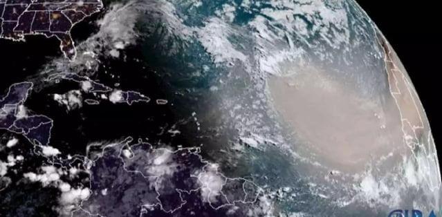 Densa Nube proveniente de África llegó a Colombia