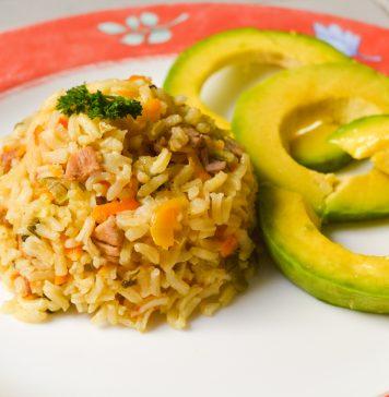 Receta de arroz apastelado con cerdo y coco