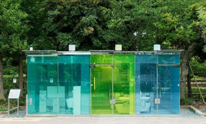 ¿Usarías un baño público con paredes transparentes?
