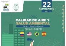 Participa del foro Calidad de aire y salud ambiental retos y oportunidades