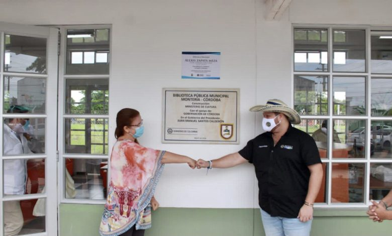 "Inauguran biblioteca pública ""Alexis Zapata Mesa"" en Montería"