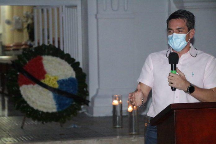 Alcalde rinde homenaje a víctimas del Covid19 en Montería