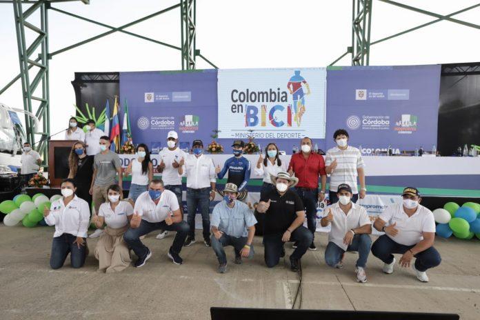 En Córdoba inició la gran gira nacional de la estrategia 'Colombia en Bici'