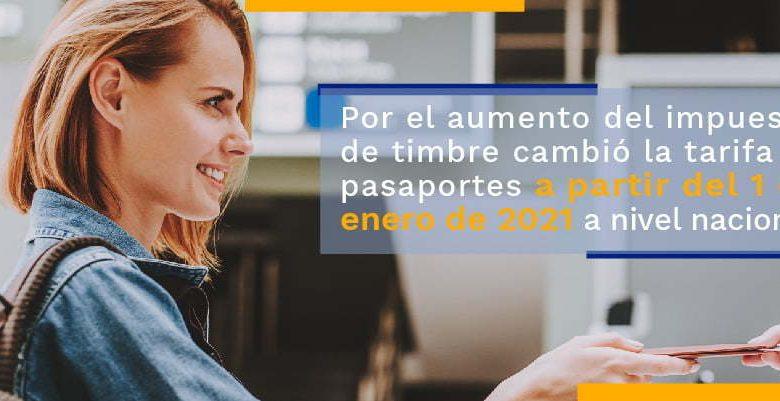 Esto cuesta el pasaporte colombiano en 2021