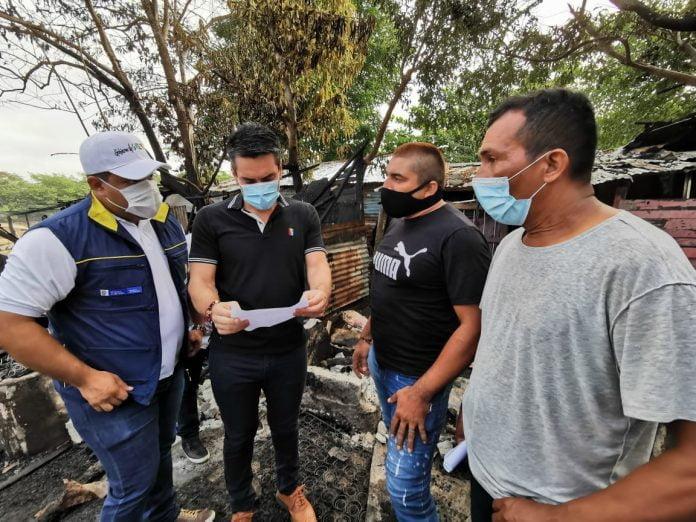 Familias en Montería afectadas por incendio son atendidas