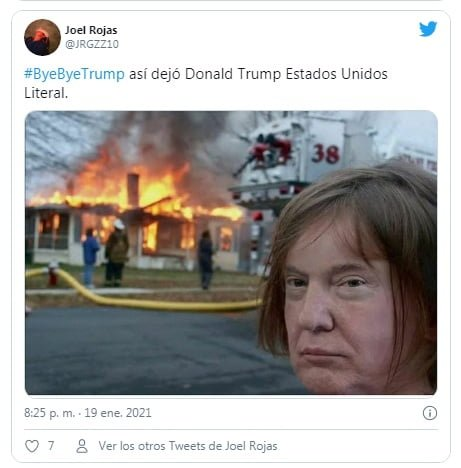 Los memes que dejó la despedida de Trump