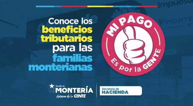 Beneficios tributarios para las familias monterianas