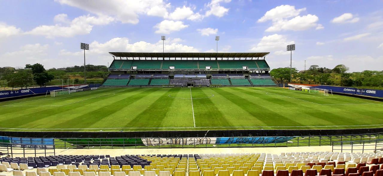 El estadio Jaraguay está listo para el partido Jaguares Vs Junior