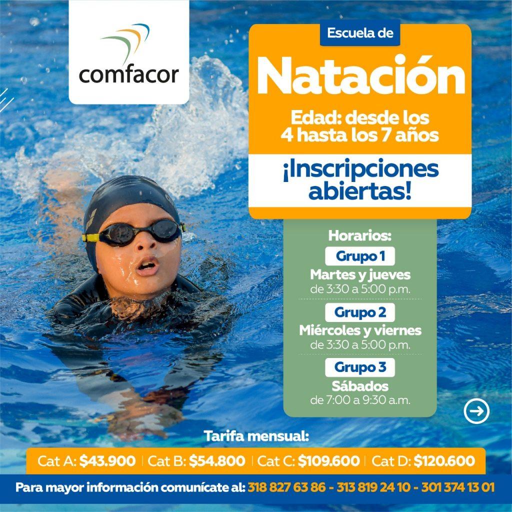 4 a 7 años. Todos los cursos de natación se desarrollarán en las instalaciones del Parque Recreacional Tacasuán, en distintos horarios y grupos, todo esto para respetar el aforo y demás protocolos de bioseguridad.