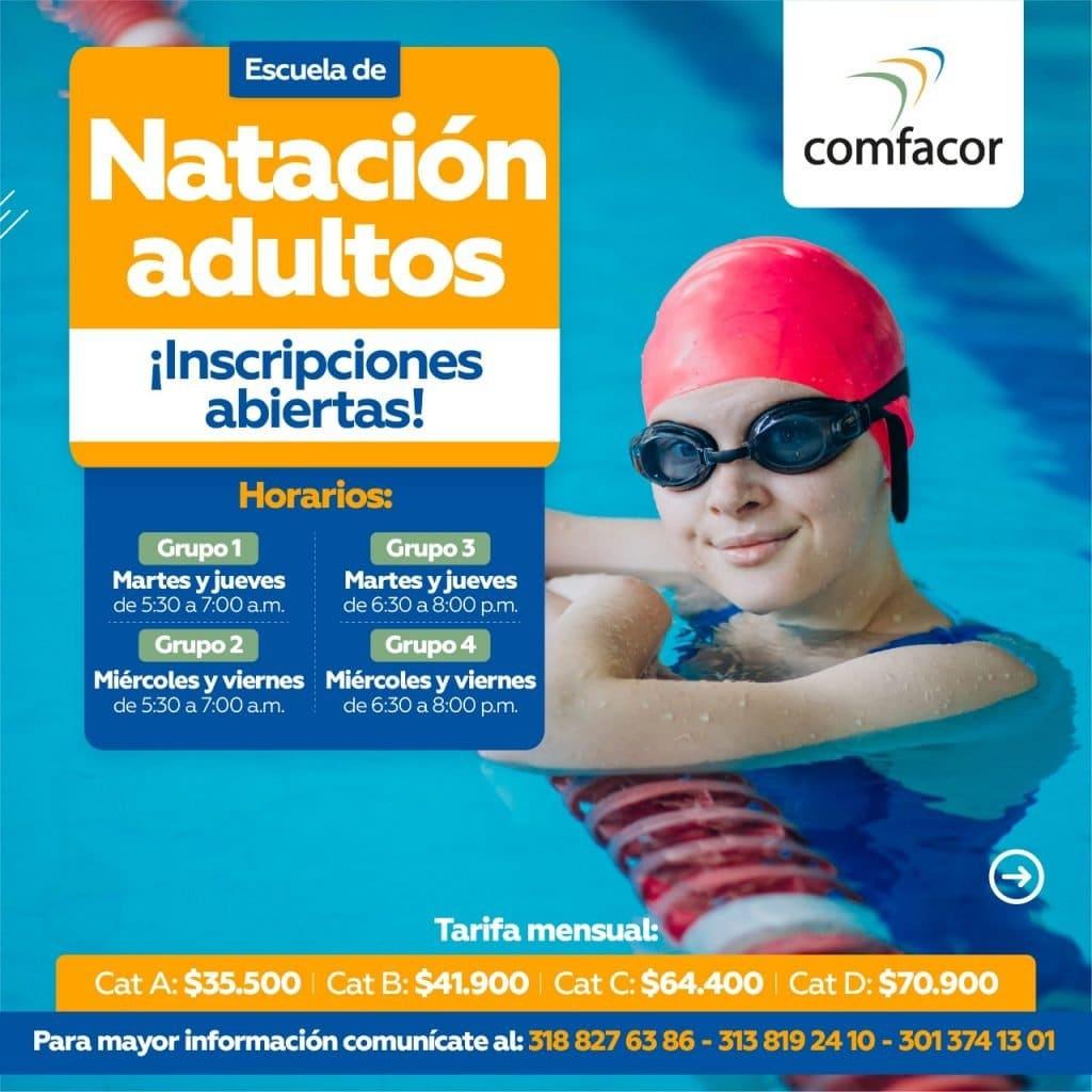 Escuela de natación para adultos
