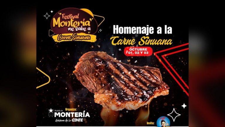 ¡Prepárate para disfrutar! Festival 'Montería me sabe a Carne Sinuana' se tomará la ciudad del 1 al 3 de octubre