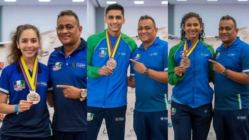 Ernesto Guevara y Lina Puche obtuvieron una presea de bronce cada uno en la categoría Kumite; él en los 75Kg y ella en los 68Kg. Lo propio hizo Mariana Frasser en la categoría Kúmite sub21-50kg.
