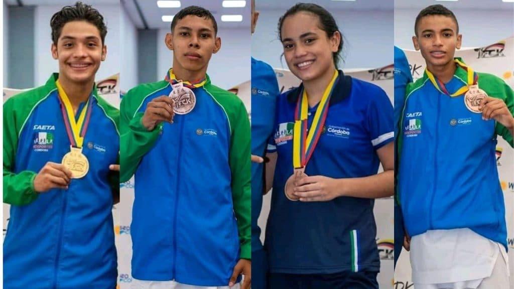 Otros cuatros bronces llegaron a nombre de Jesús Mejía (Kumite-67Kg), Juanita Vitola (Kumite 63Kg), Luis Atilano (Juvenil Kumite 45Kg) y Jordi Pastrana (Junior Kumite 61Kg).